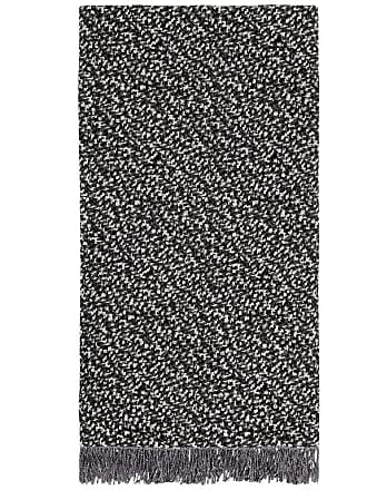 Missoni Home Missonihome Vidal Throw In Black And White With Gray Fringe Trim