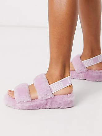 UGG Oh Yeah - Sandalen mit doppelten Riemen und Logo in Aster-Violett