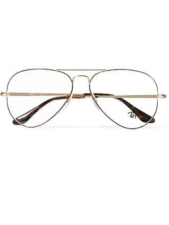 Ray-Ban Aviator Gold-tone And Tortoiseshell Acetate Optical Glasses