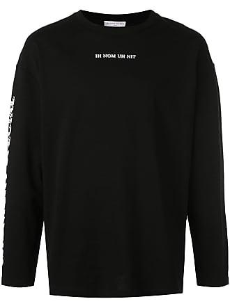 Ih Nom Uh Nit Camiseta mangas longas com logo - Preto