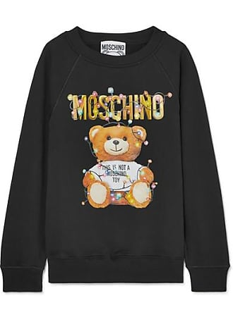 3a3366af92b Moschino Printed Stretch-cotton Jersey Sweater - Black