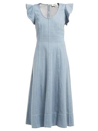 ea667684c06 Sea New York Stella Flared Denim Midi Dress - Womens - Denim