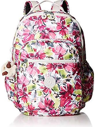 Kipling Seoul Go Laptop, Padded, Adjustable Backpack Straps, Zip Closure, Blushing Posies