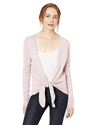 Daily Ritual Womens Lightweight Tie-Front Cardigan, Pale Pink, X-Small