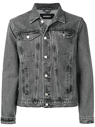 Misbhv rear print denim jacket - Grey