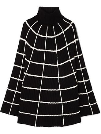 5d9c5c33fb7c Madeleine Thompson Charlotte Checked Wool And Cashmere-blend Turtleneck  Poncho - Black