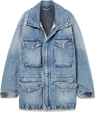 Unravel Oversized Cutout Denim Jacket - Blue