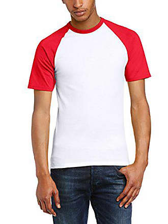 9862e96e103e0 Fruit Of The Loom Baseball Classic Short Sleeve, Top de Sport Homme, Blanc/