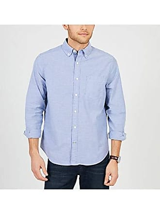 22ad0f68 Nautica Mens Classic Fit Stretch Solid Long Sleeve Button Down Shirt,  Estate Blue, X
