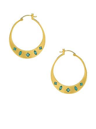 Gorjana Maya Hoops in Metallic Gold