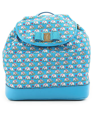 Salvatore Ferragamo Backpack for Women On Sale in Outlet, Light Blue, Nylon, 2017, one size