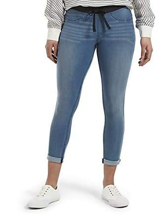 Hue Womens Sweatshirt Denim Cuffed Capri Leggings, Stonewash XL