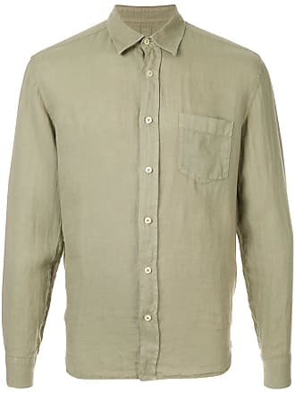 120% Lino long sleeve shirt - Green
