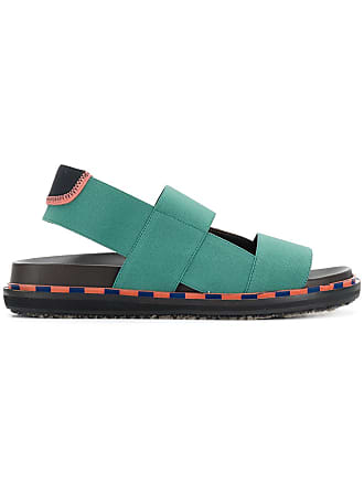 Marni double strap sandals - Green