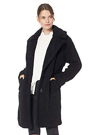 Kendall + Kylie Womens Single Breasted Coat, Black, Medium