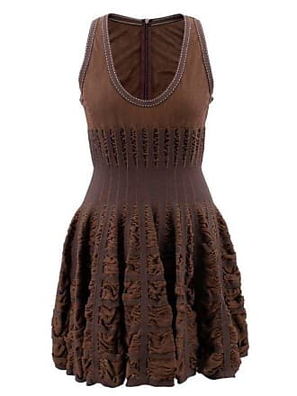 cdccc961cda Alaia Alaia Mid-length Chocolate Brown Skater Dress (size  Us 8 m