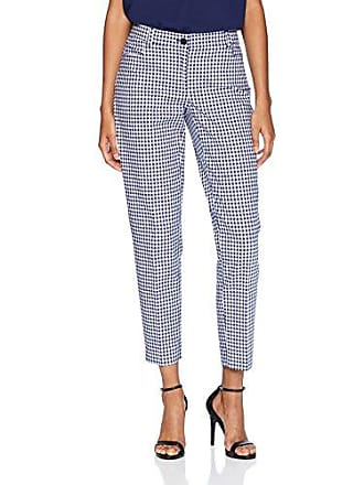Anne Klein Womens Gingham Slim Pant, Eclipse/Optic White, 14