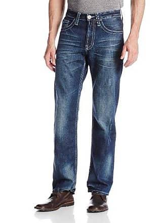 Stetson Mens Modern Straight Leg Jean, Blue, 36x32