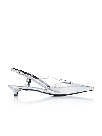 Yuul Yie Mirage PVC-Trimmed Metallic Leather Slingback Pumps