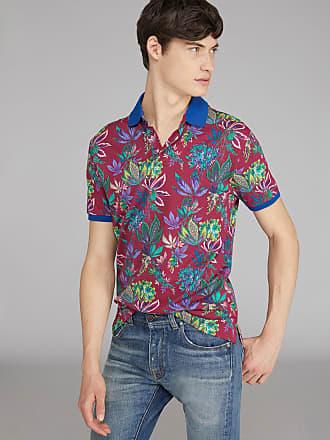 Etro Poloshirt Mit Floralem Motiv, Herren, Violett, Größe XL