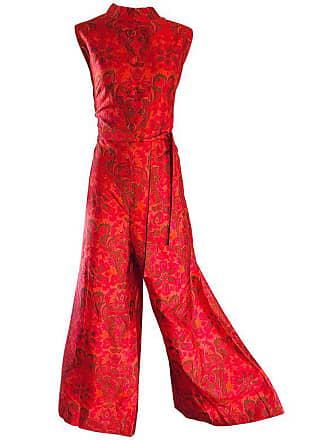 95284610db1 1stdibs Amazing 1960s Wide Leg Palazzo Hot Pink + Orange Silk Vintage 60s  Jumpsuit