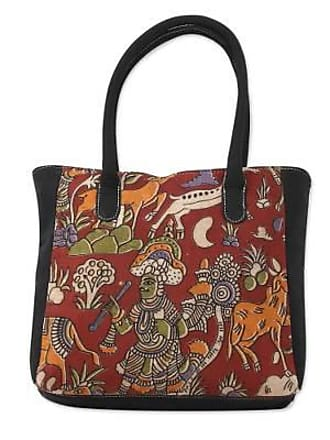 Novica Cotton tote bag, Hunting Expedition