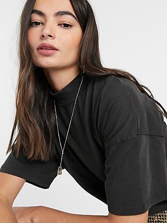 Mango T-shirt in cotone organico grigio slavato