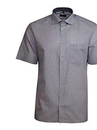 a2828fc1a73c Eterna Herrenhemd Kurzarm Modern Fit Blau kariert Businesshemd Elegantes  Herren Hemd Freizeithemd Baumwollhemd L 42