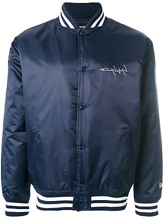 Yohji Yamamoto oversized bomber jacket - Blue