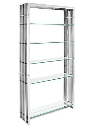 ModWay Modway Gridiron Stainless Steel Bookshelf in Silver