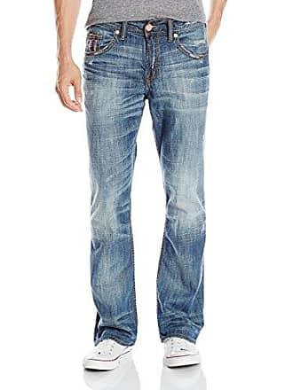 c04d7c84 Silver Jeans Co Mens Gordie Loose Fit Straight Leg Jeans, Indigo, 42x32