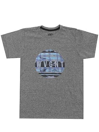 Wave Giant Camiseta WG Menino Escrita Cinza