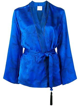 Forte_Forte belted jacket - Blue