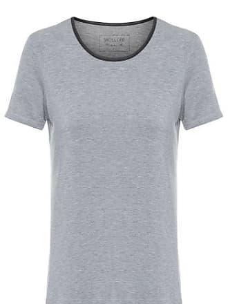 48d6a104f9 Shoulder T-shirt Mescla Gola Cirrê Shoulder - Cinza