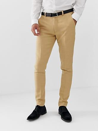 ca561904d87a8e Asos Wedding - Pantaloni da abito super skinny in misto lana grigio pietra  a quadretti -