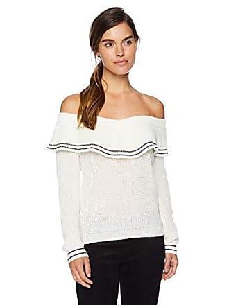 BB Dakota Womens Rush Week Off The Shoulder Sweater, Ivory, Medium