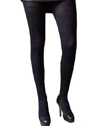 bf72b8d1281 Veneziana Black Thick Opaque Mock Suspender Tights Imitating  StockingsNegrita 80 Denier (M)