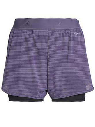 0af9650e39a1 adidas Adidas Woman Chill Layered Jacquard And Jersey Shorts Violet Size XS