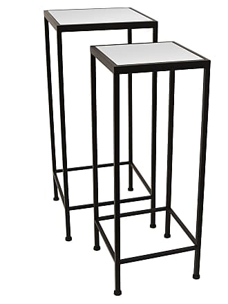 Three Hands Mirrored Top Nesting Tables - Set of 2 - 38093