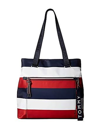795a8efc Tommy Hilfiger Lani Tote Corporate Stripe (Navy/Natural) Handbags