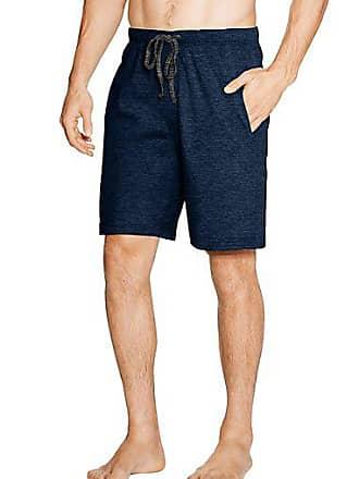 Hanes Mens X-Temp Brushed Performance Knit Shorts 2-Pack Charcoal Black Space Dye/Lt Grey Dye S