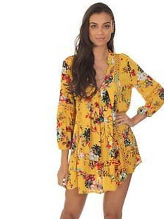 Lola Swimwear Vestido con Diseño Floral<br>Amarillo