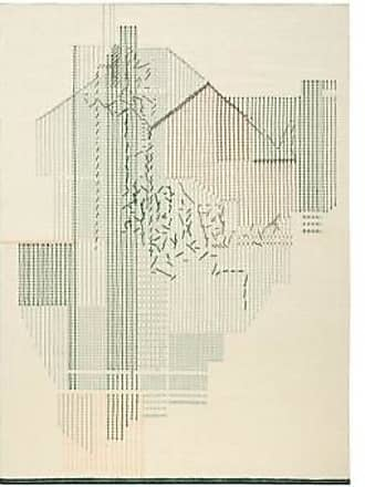 GAN Rugs Teppich Backstich Composition Green