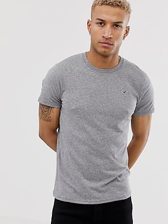 bffed56c16a1f Hollister Graues T-Shirt mit Rundhalsausschnitt und Möwenlogo - Grau