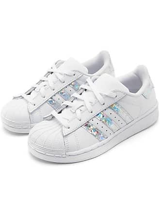 517029b9f2 adidas Originals Tênis Couro adidas Originals Menina Superstar C Branco