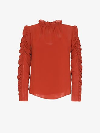 See By Chloé ruffle neck ruched blouse
