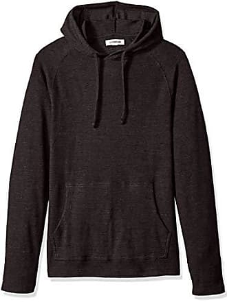 Goodthreads Mens Long-Sleeve Slub Thermal Pullover Hoodie, Black, X-Large