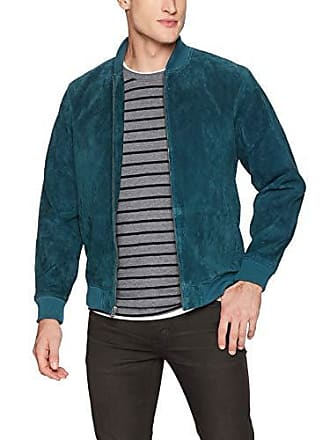 Obey Mens Clifton LEP. Suede Bomber Jacket, Pine, XX-Large