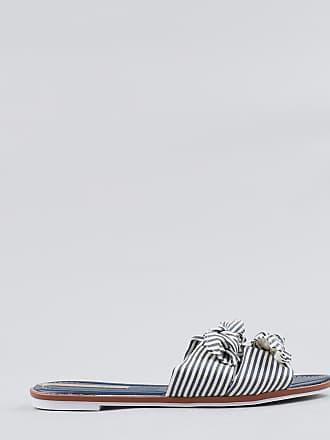 Moleca Rasteira Feminina Moleca Listrada com Nó Azul Marinho