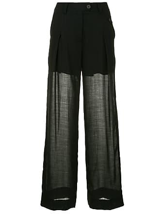 Isabel Benenato Calça pantalona - Preto